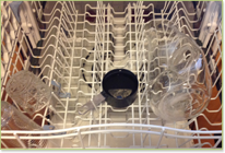 Dishwasher getting vinegar treatment