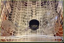 Dishwasher getting vinegar treatment