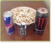 drinks and snacks with caffeine